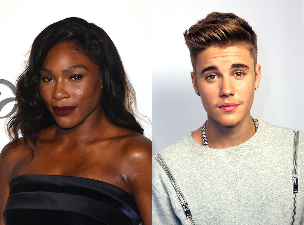 Serena Williams, Justin Bieber