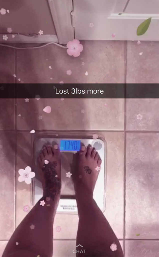 Blac Chyna, Weight Loss, Snapchat