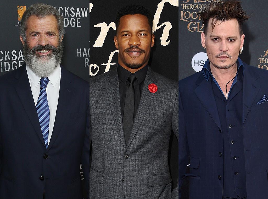 Mel Gibson, Nate Parker, Johnny Depp
