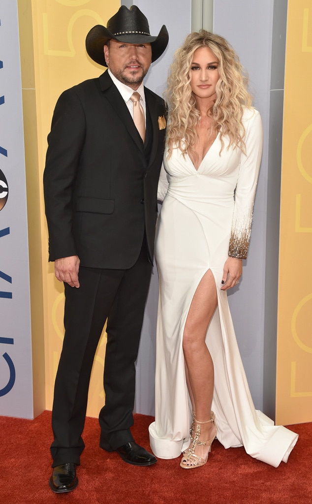 Jason Aldean & Brittany Kerr from CMA Awards 2016 Red ... Brittany Kerr