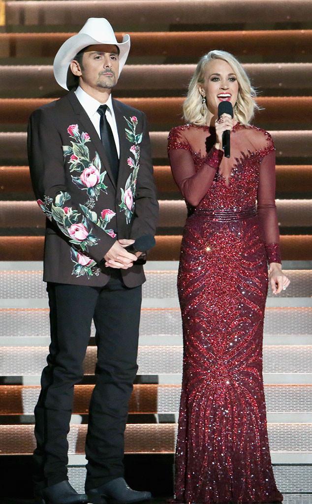 Carrie Underwood, Brad Paisley, CMA Style, 2016 CMA Awards