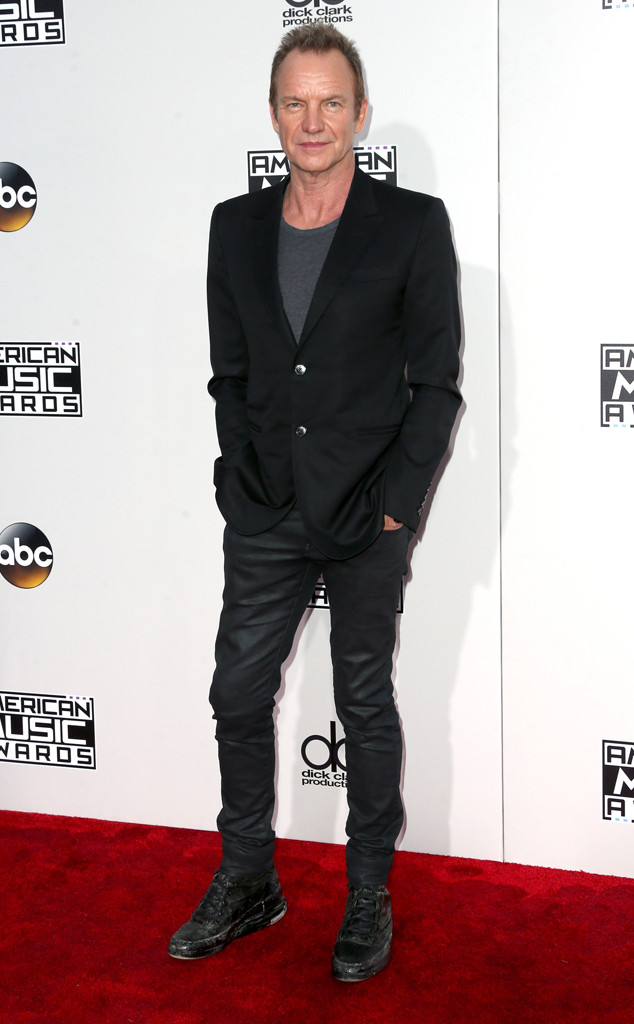 Sting, AMAs, 2016 American Music Awards, Arrivals