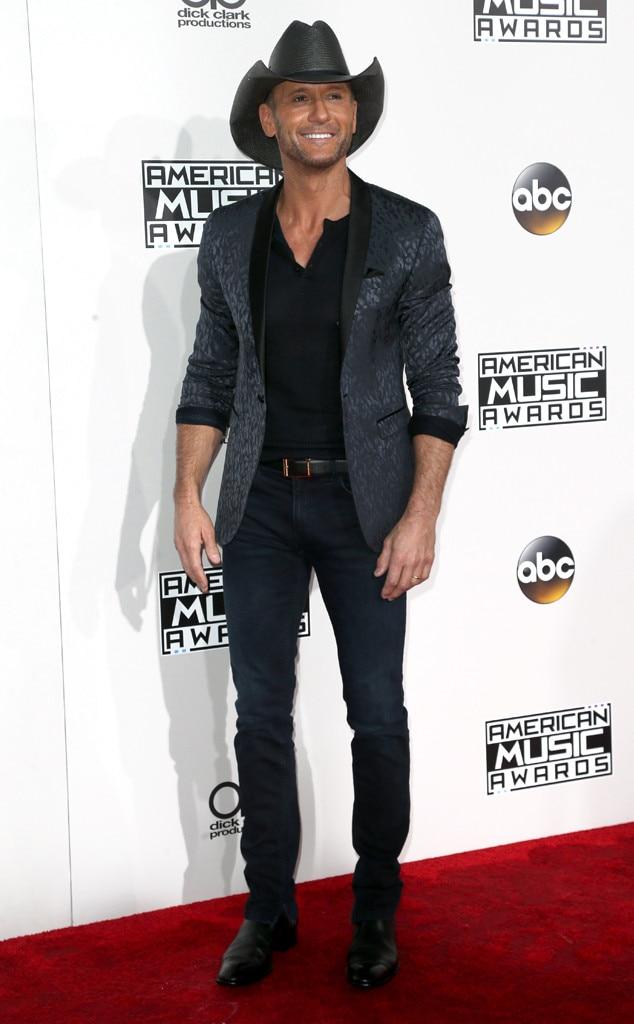 Tim McGraw, AMAs, 2016 American Music Awards, Arrivals