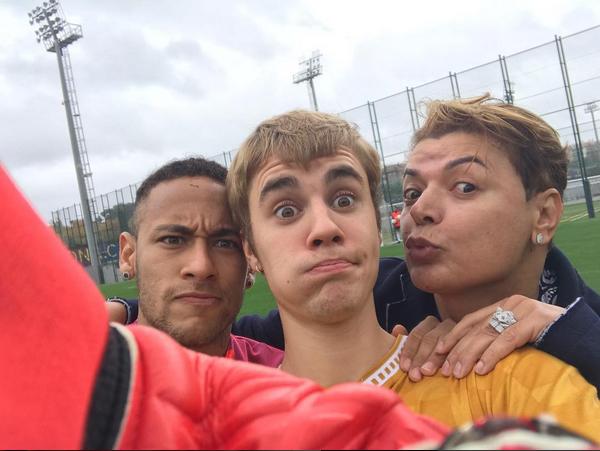 Justin Bieber, Neymar