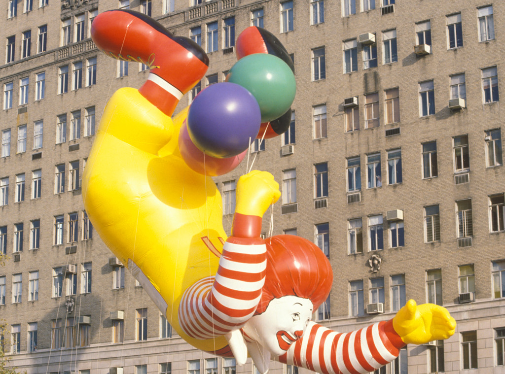 Scariest Macy's Thanksgiving Day Parade Floats, Ronald McDonald, 1986