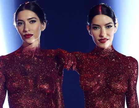 The Veronicas Perform Topless And Covered In Glitter At