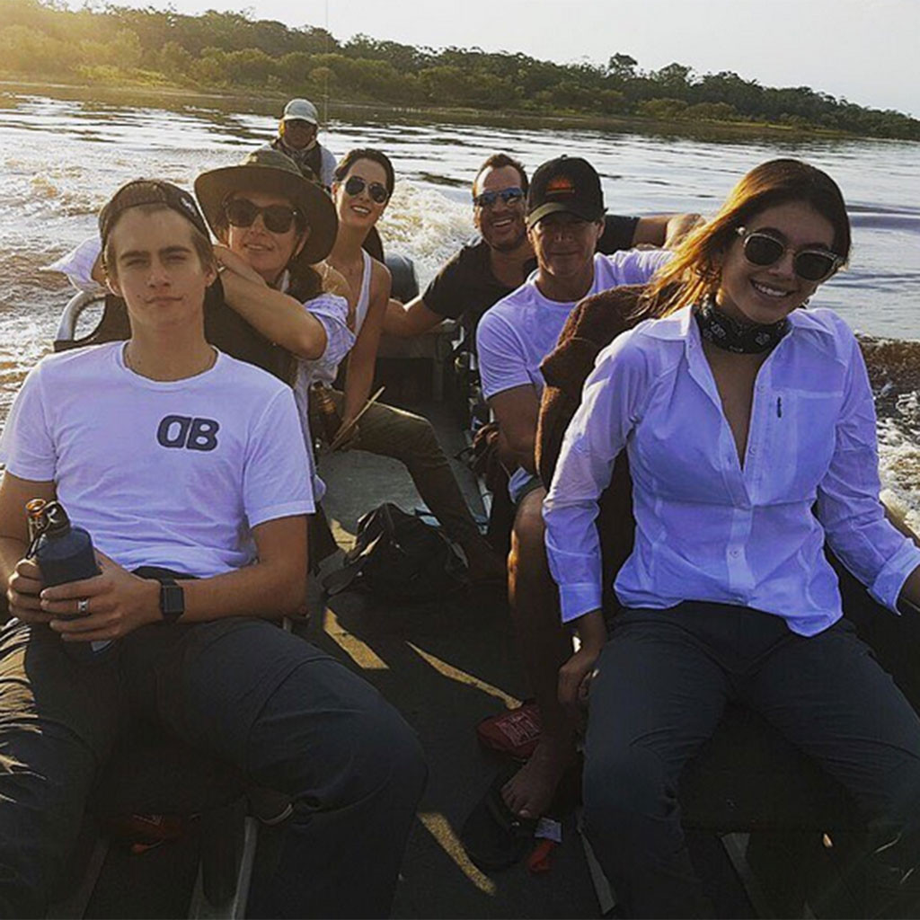Cindy Crawford, Rande Gerber, Amazon Trip, Instagram