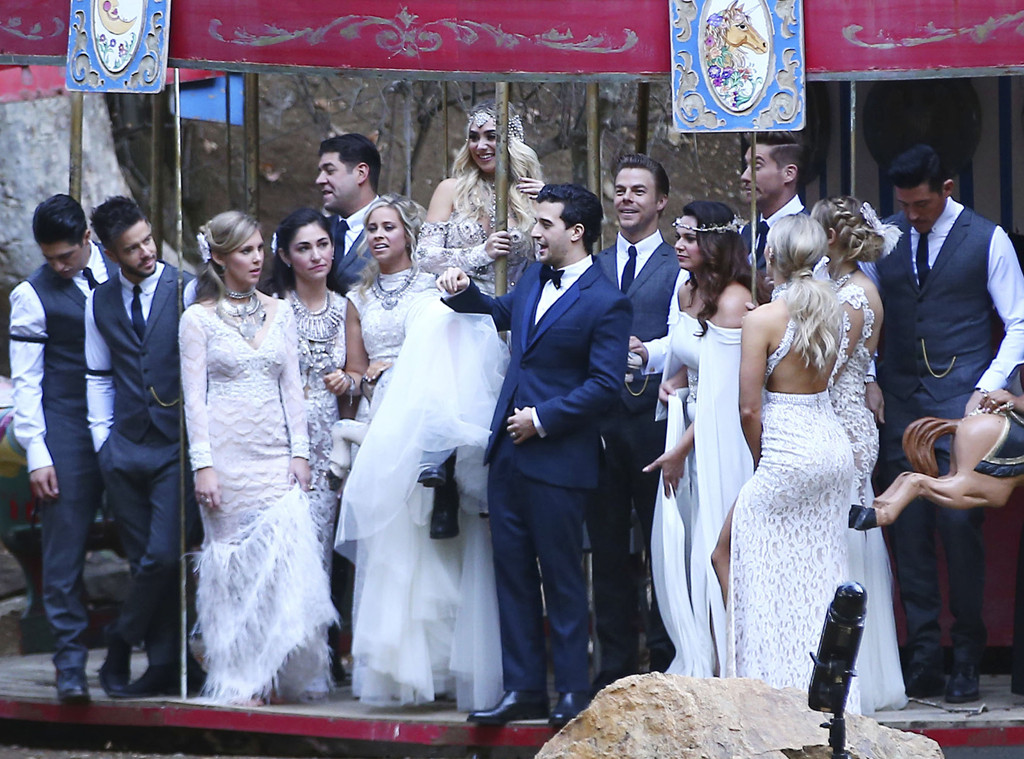 Mark Ballas Bride Bc Jean Sparkled Like A Dwts Dancer At Their