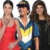 Selena Gomez, Teresa Giudice, Bruno Mars