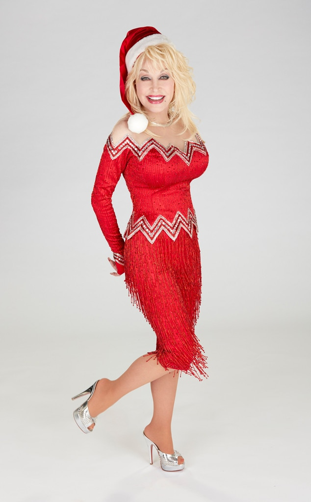 Dolly Parton From Stars As Sexy Santas  E News-4983