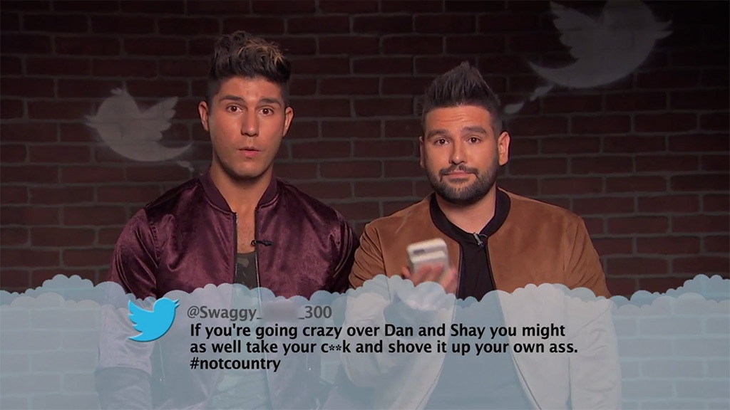 Dan + Shay from Celebrity Mean Tweets From Jimmy Kimmel ...