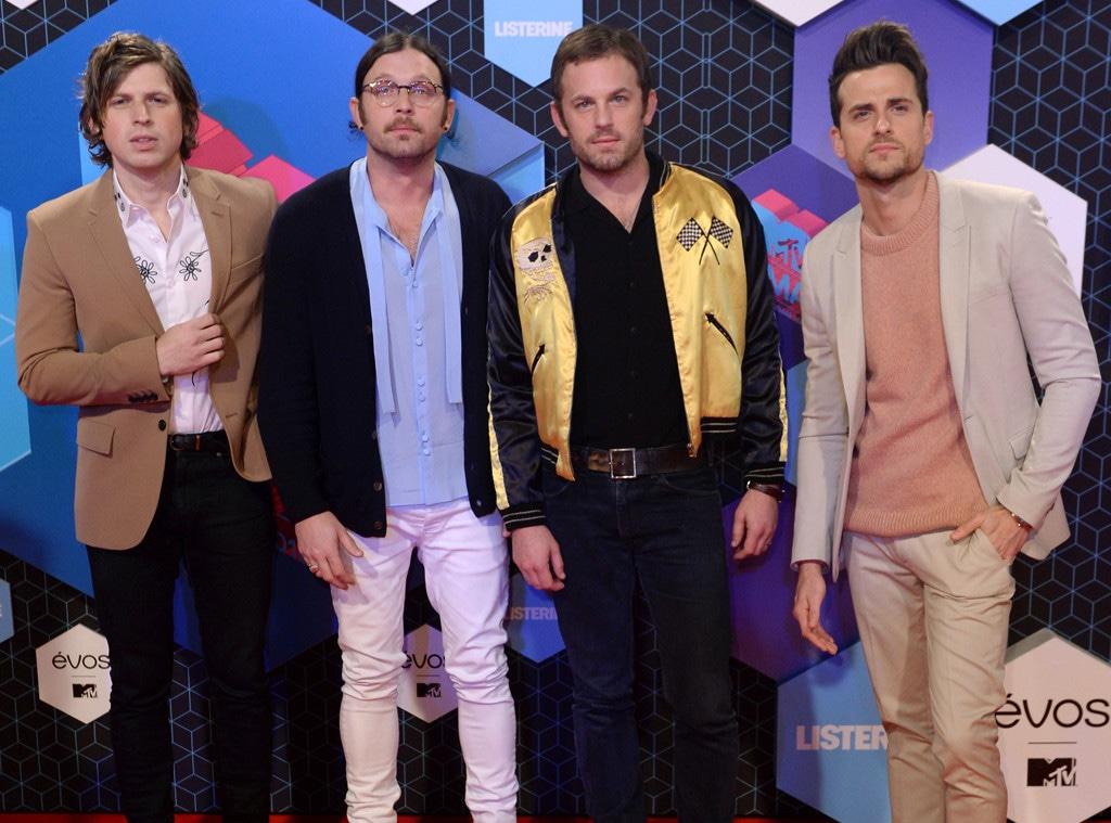 Matthew Followill, Nathan Followill, Caleb Followill, Jared Followill, Kings of Leon, EMA's, MTV Europe Music Awards