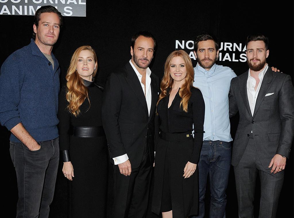 Armie Hammer, Amy Adams, Tom Ford, Isla Fisher, Jake Gyllenhaal, Aaron Taylor-Johnson