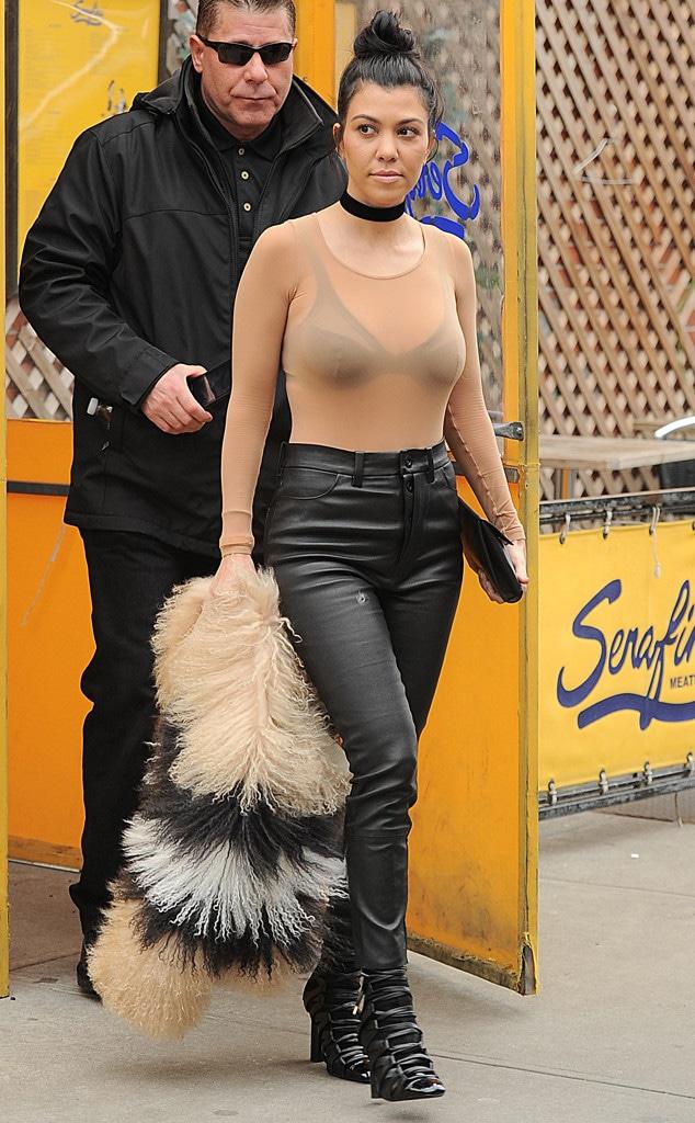 Kourtney Kardashian, New York Fashion Week Star Sightings