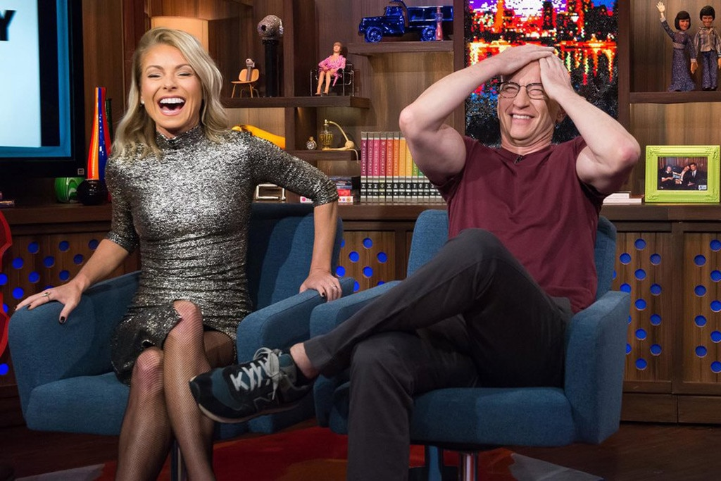 Kelly Ripa, Anderson Cooper, Watch What Happens Live