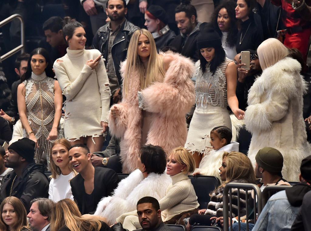 Kourtney Kardashian, Kendall Jenner, Khloe Kardashian, Kylie Jenner, Kim Kardashian, NYFW, Yeezy