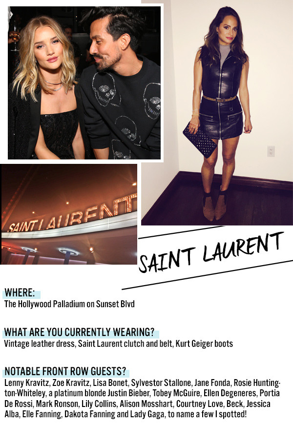 NYFW, Saint Laurent Dispatch