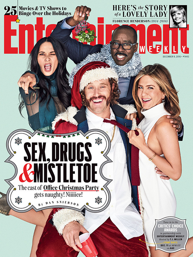 Jennifer Aniston, T.J. Miller, Courtney B. Vance, Olivia Munn, Entertainment Weekly
