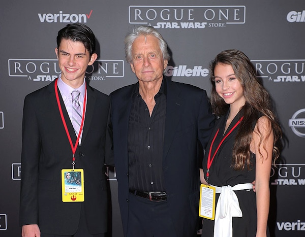 Michael Douglas gets frisked by airport security as he ... |Dylan Michael Douglas 2014