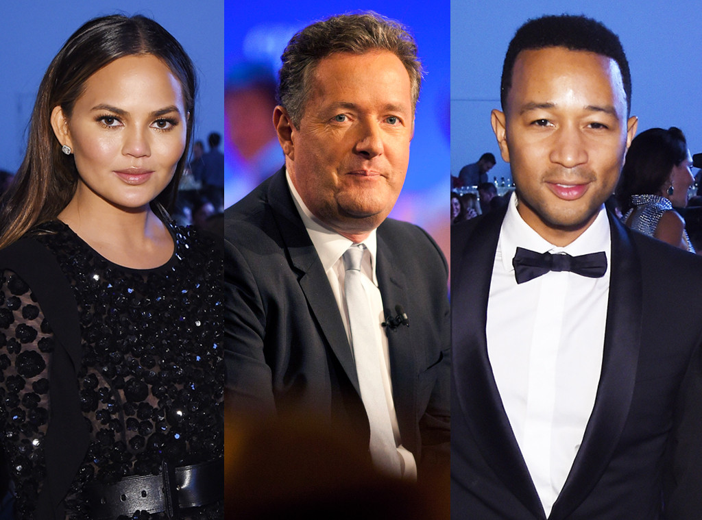 Chrissy Teigen, Piers Morgan, John Legend