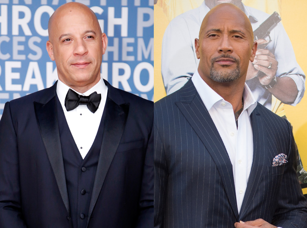 Dwayne Johnson, The Rock, Vin Diesel