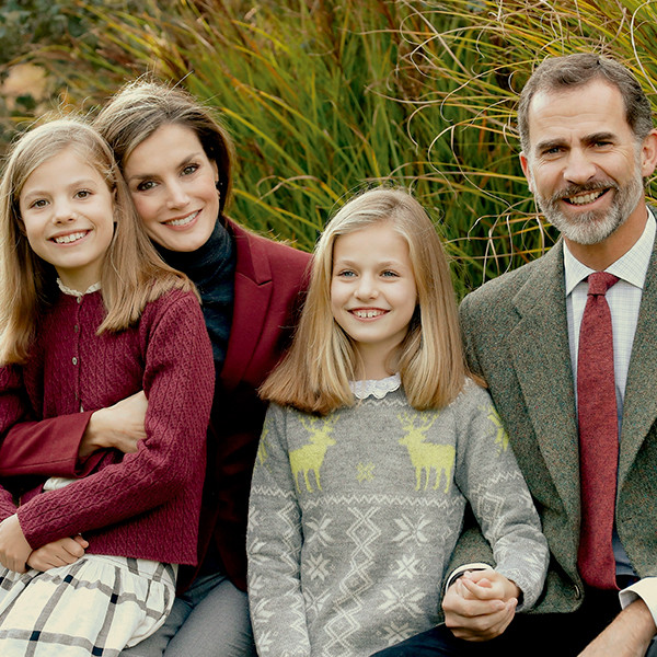 King Felipe VI of Spain, Queen Letizia, Princess Leonor, Princess Sofia