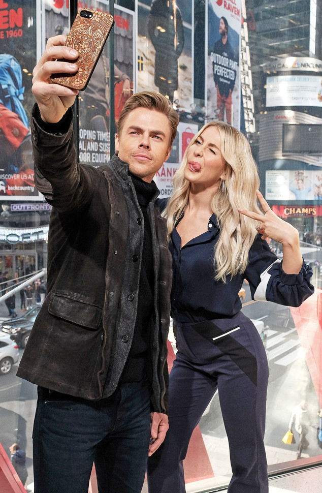 Derek Hough, Julianne Hough, Celebs taking Selfies