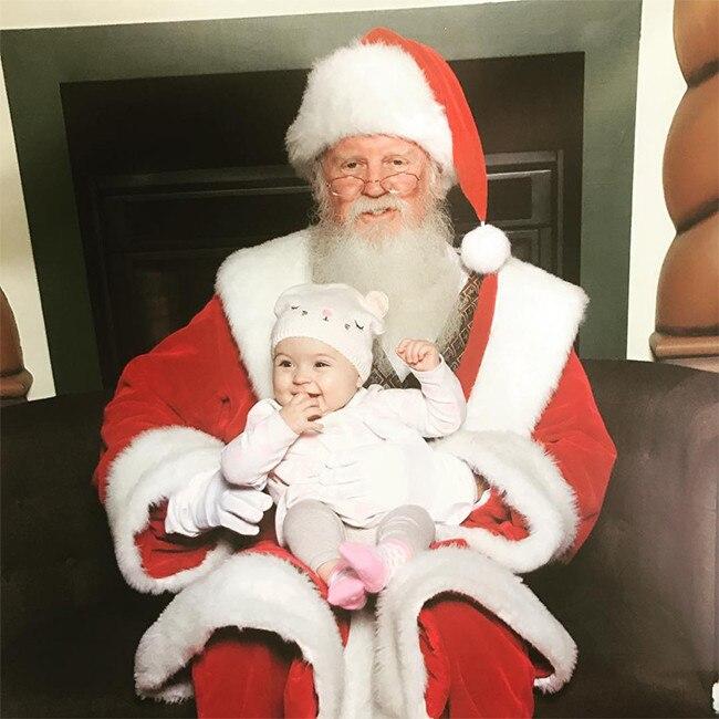 Audrina Patridge, Daughter Kirra, Santa Claus
