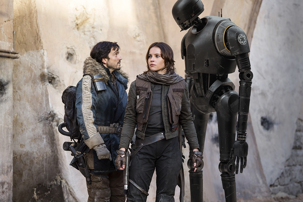 Stars Wars - The Mandalorian , the first scripted live-action  Star Wars  series will be housed on Disney+ and available day of launch. There's also a new season of  Star Wars: The Clone Wars  and the untitled  Rogue One  prequel starring  Diego Luna  and  Alan Tudyk .