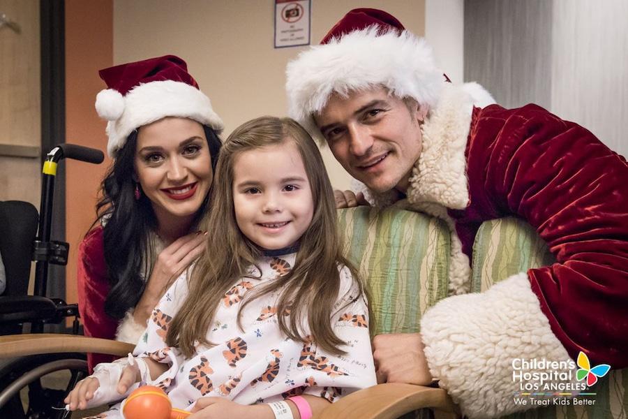 Katy Perry, Orlando Bloom, Hôpital pour enfants