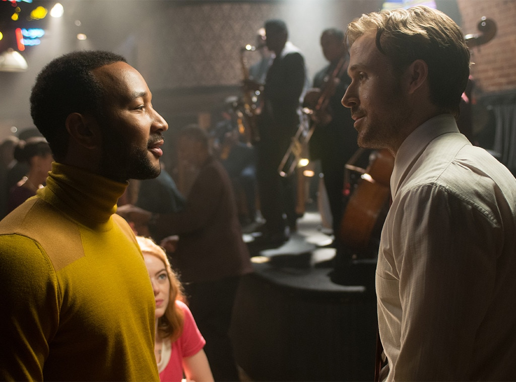 """John Legend -  Legend had nothing but admiration for his  La La Land  co-star, gushing about him while promoting the Oscar-nominated movie.   The EGOT winner admitted to being a little bit jealous of how quickly Gosling learned to play piano, telling Nova FM in a radio interview,""""The fact that he learnt as well as he did is pretty impressive for someone who didn't normally...in fact, I was a little bit jealous...he works so hard. I haven't seen any of his flaws yet!"""""""
