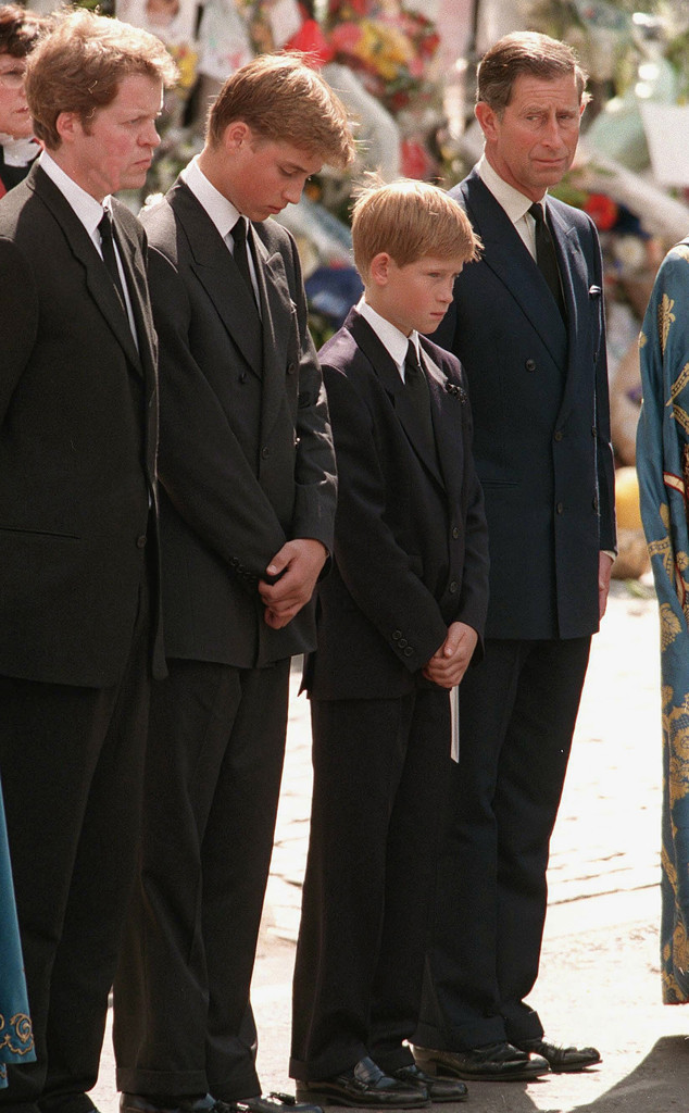 Prince Harry, Princess Diana Funeral