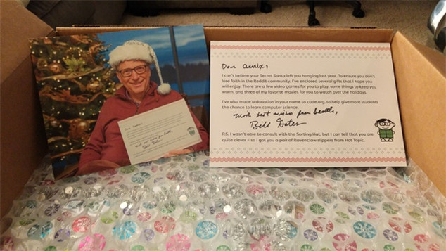 Bill Gates, Reddit Secret Santa