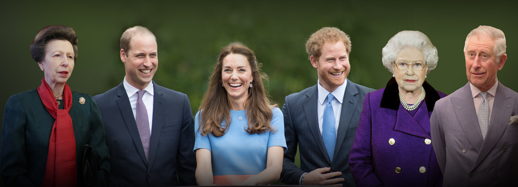 Prince William, Kate Middleton, Prince Harry, Prince Charles, Queen Elizabeth II, Princess Anne