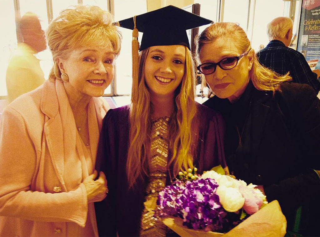 Debbie Reynolds, Billie Lourd, Carrie Fisher