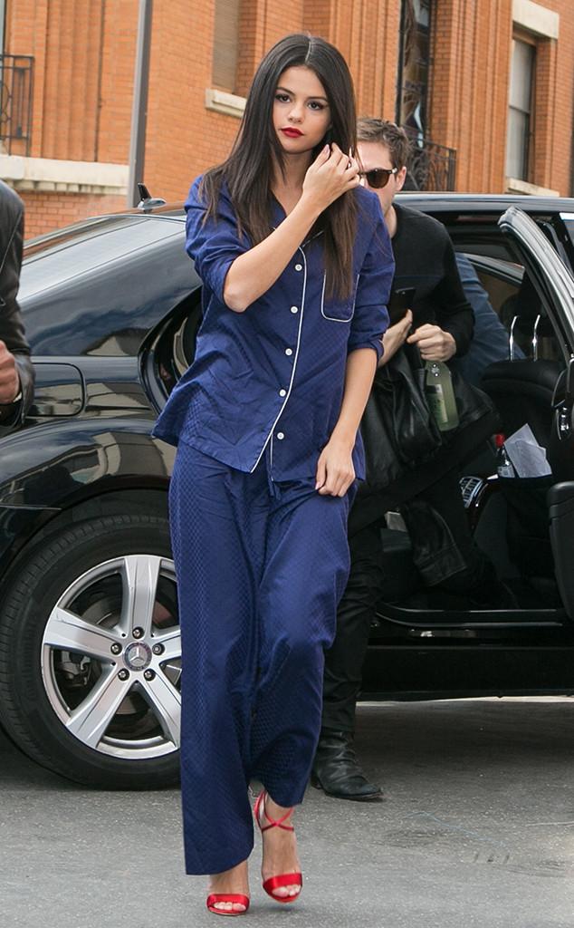 Selena Gomez, Paris 2015, Pajamas