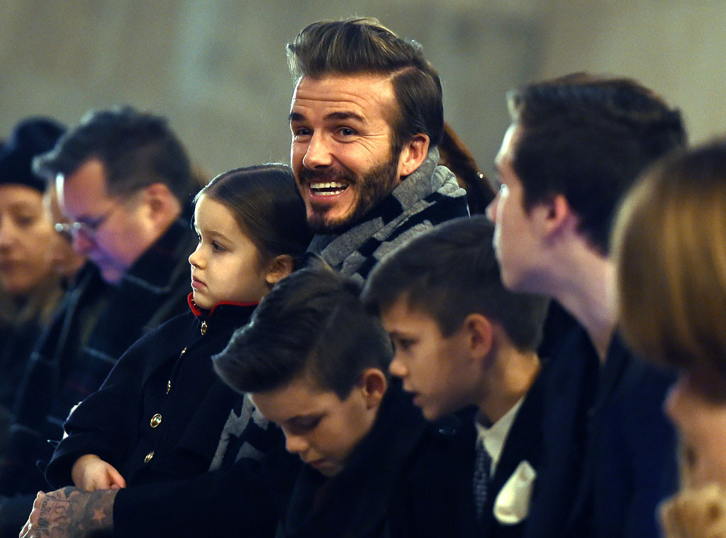 David Beckham, Harper Beckham, Brooklyn Beckham, Romeo Beckham