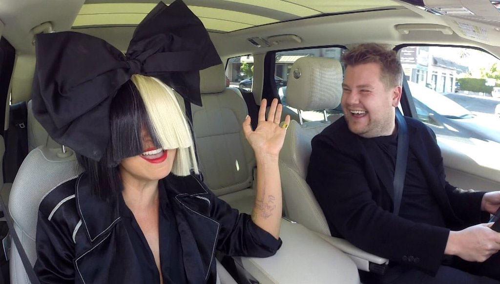 Sia, James Corden, Carpool Karaoke, Late Late Show