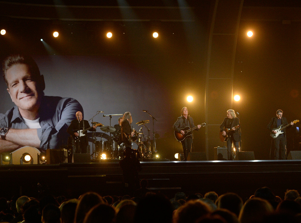 Bernie Leadon, Timothy B. Schmit, Jackson Browne, Joe Walsh, Steuart Smith, Glenn Frey Tribute, 2016 Grammy Awards, Show