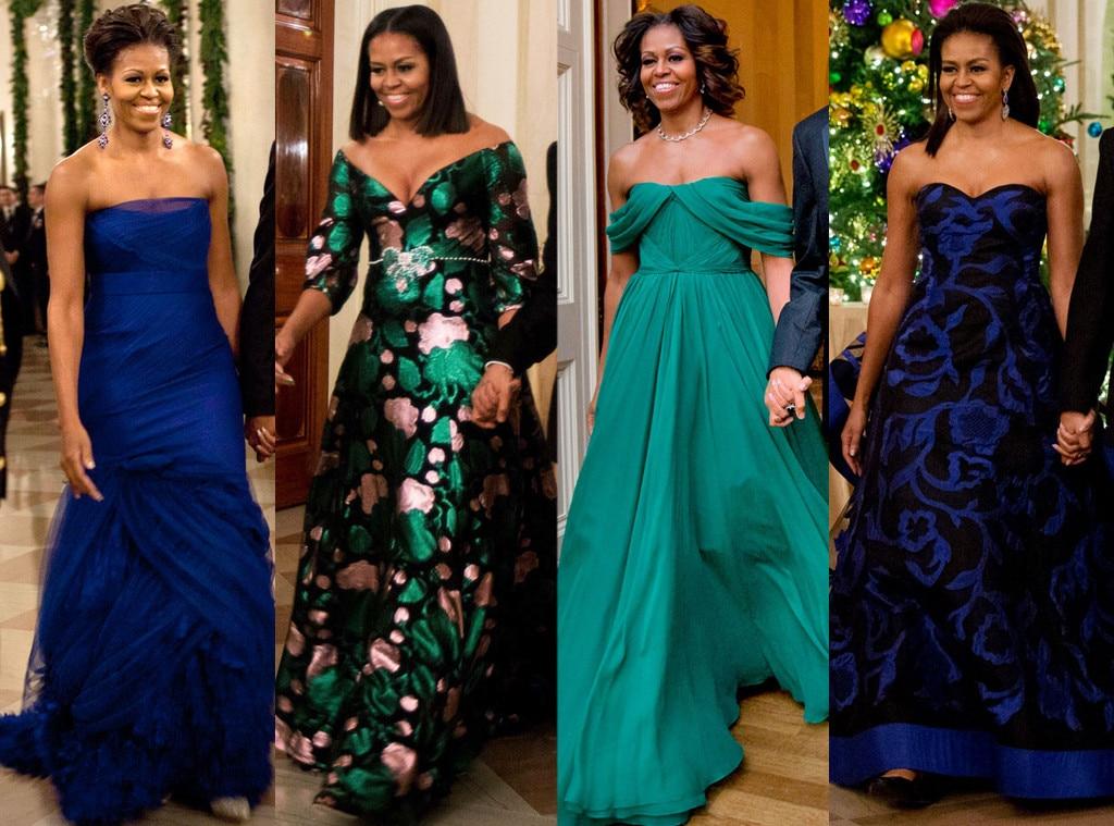 Michele Obama Evening Gowns Elegant