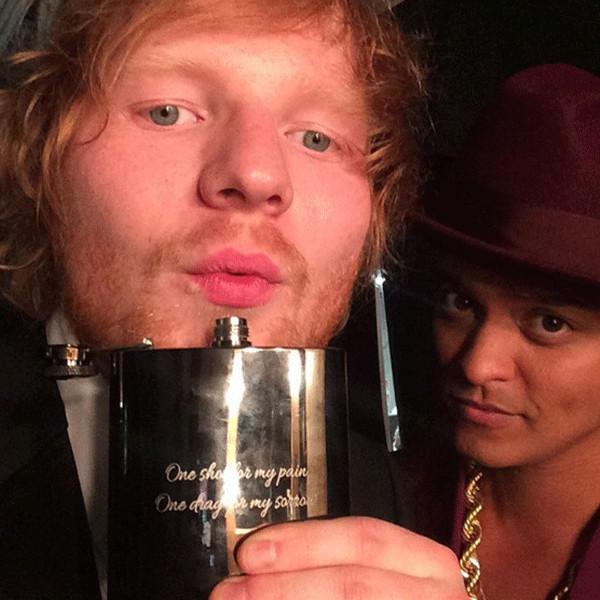 Bruno Mars, Ed Sheeran, Instagram