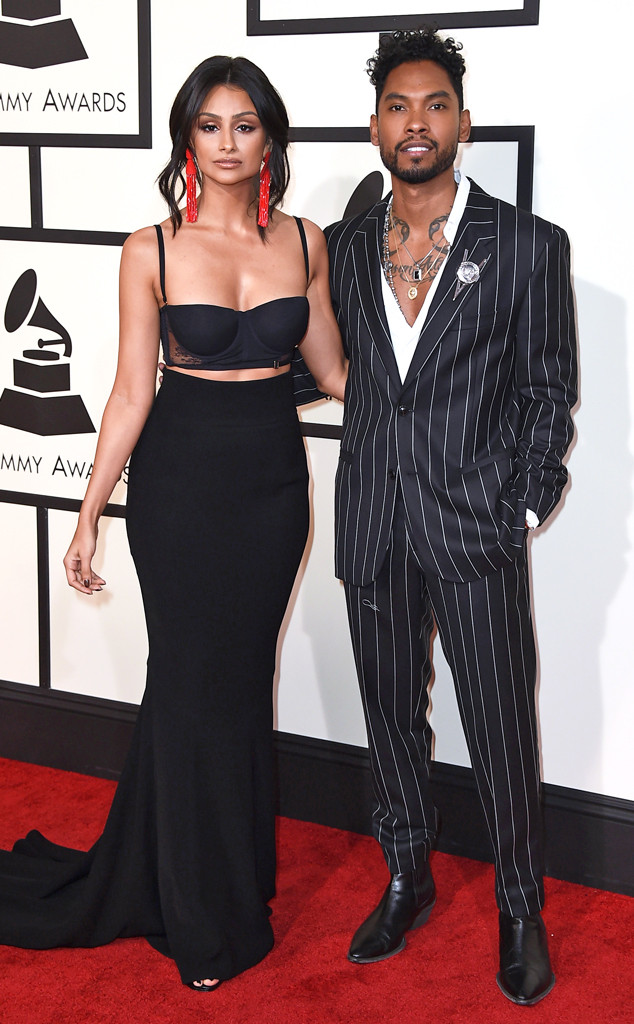 Miguel, Nazanin Mandi, 2016 Grammy Awards, Couples