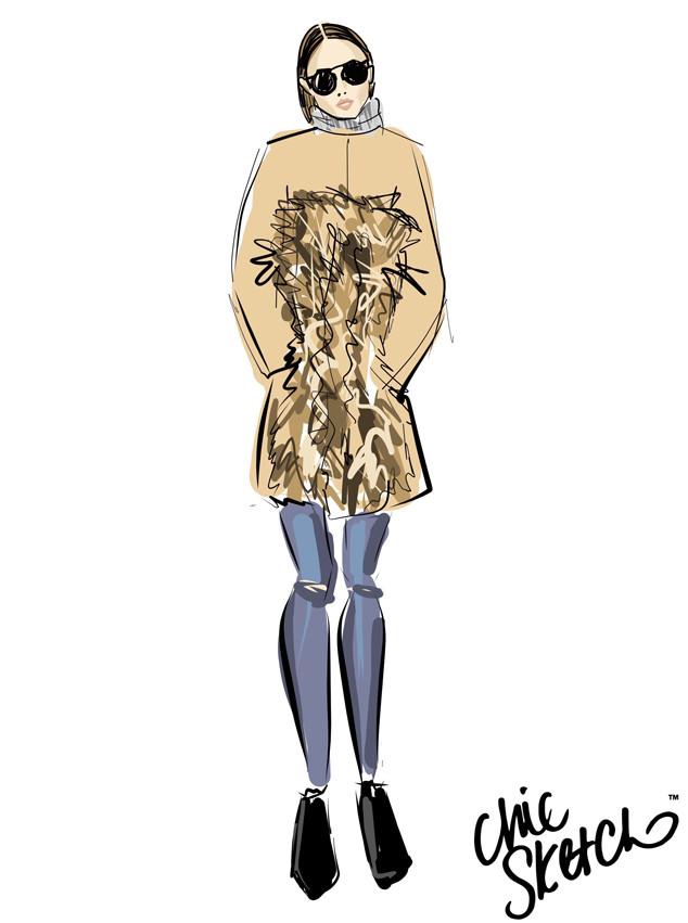 Olivia Palermo, Chic Sketch