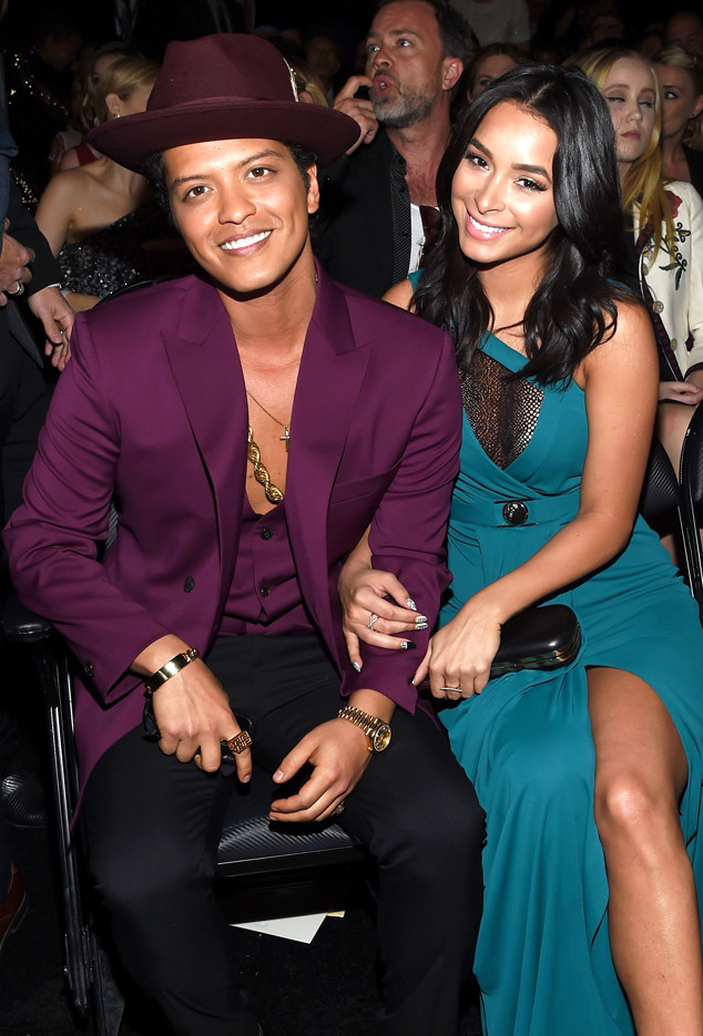 Bruno Mars, Jessica Caban, 2016 Grammy Awards, Candids