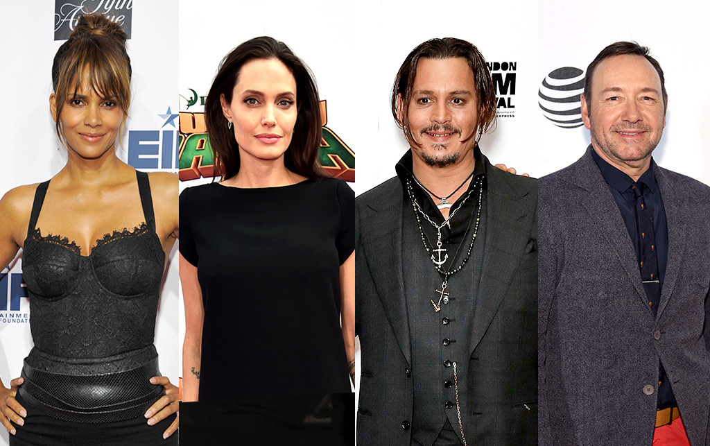 Halle Berry, Angelina Jolie, Johnny Depp, Kevin Spacey
