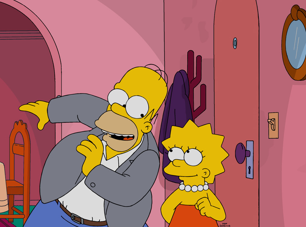 somehow the simpsons is going live e news