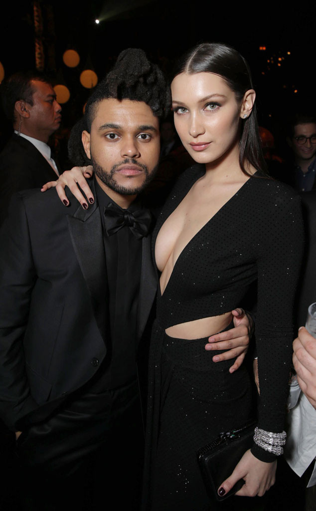 The Weeknd, Bella Hadid, 2016 Grammy Awards, Party Pics