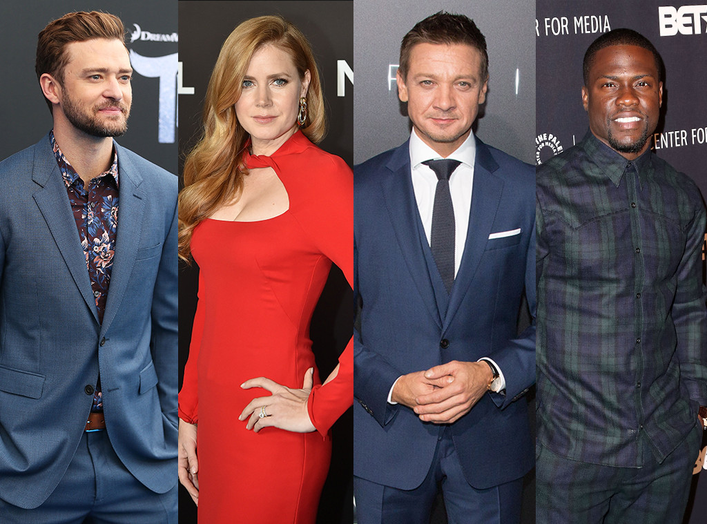Justin Timberlake, Amy Adams, Jeremy Renner, Kevin Hart