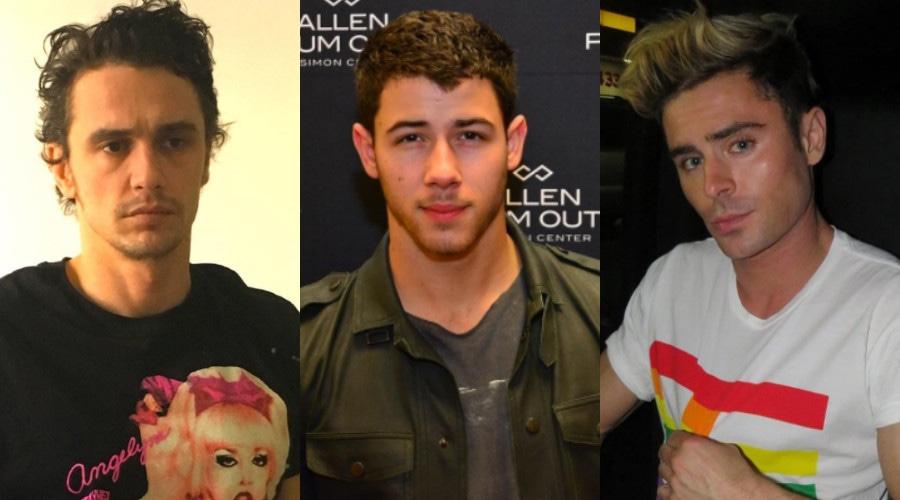 James Franco, Nick Jonas, Zac Efron