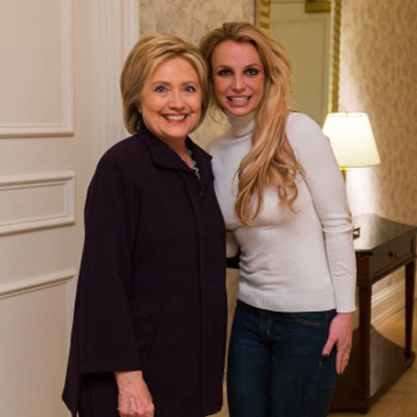 Britney Spears, Hillary Clinton